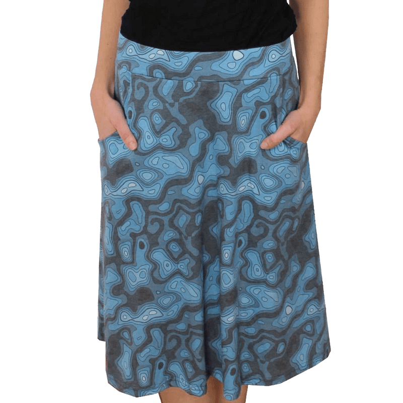 Topographic Map A-Line Skirt