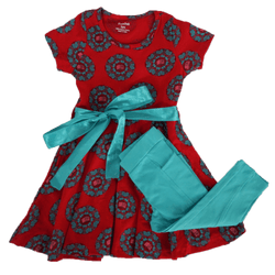 Books Mandala Kids Twirl Dress & Leggings Set [FINAL SALE]