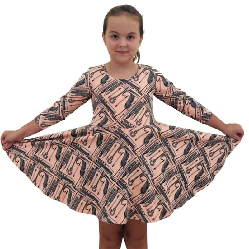 Evolution of Writing Instruments Kids Twirl Dress [FINAL SALE]