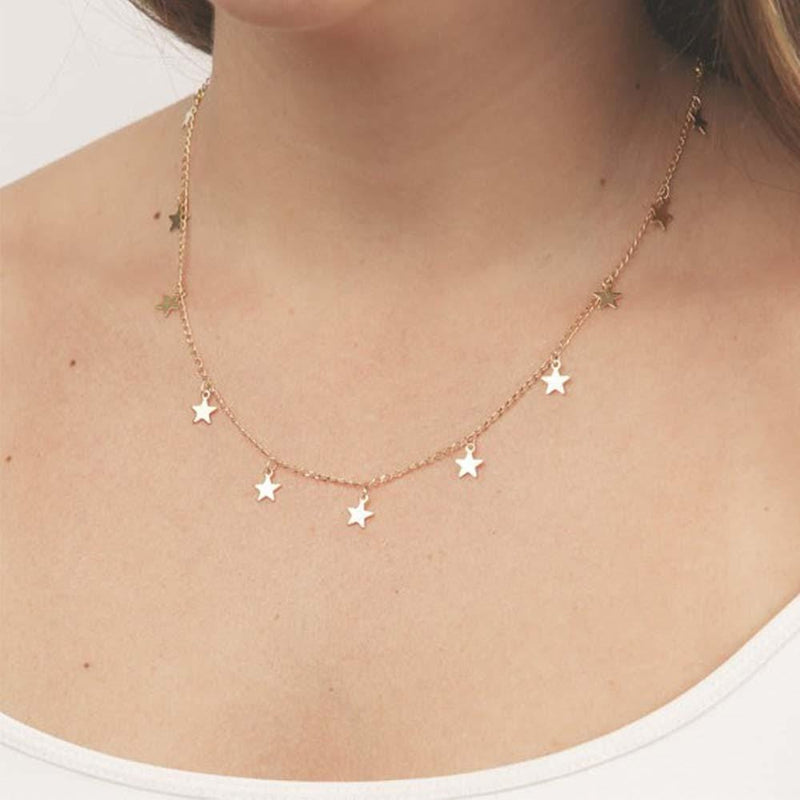 Dainty Star Choker Necklace