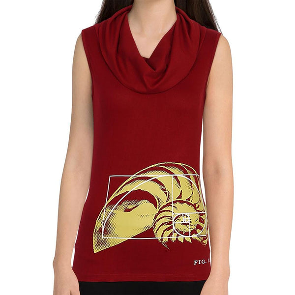 Golden Ratio Sleeveless Cowl Neck Top