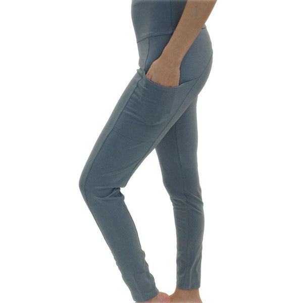 Grey Adults Leggings with Pockets