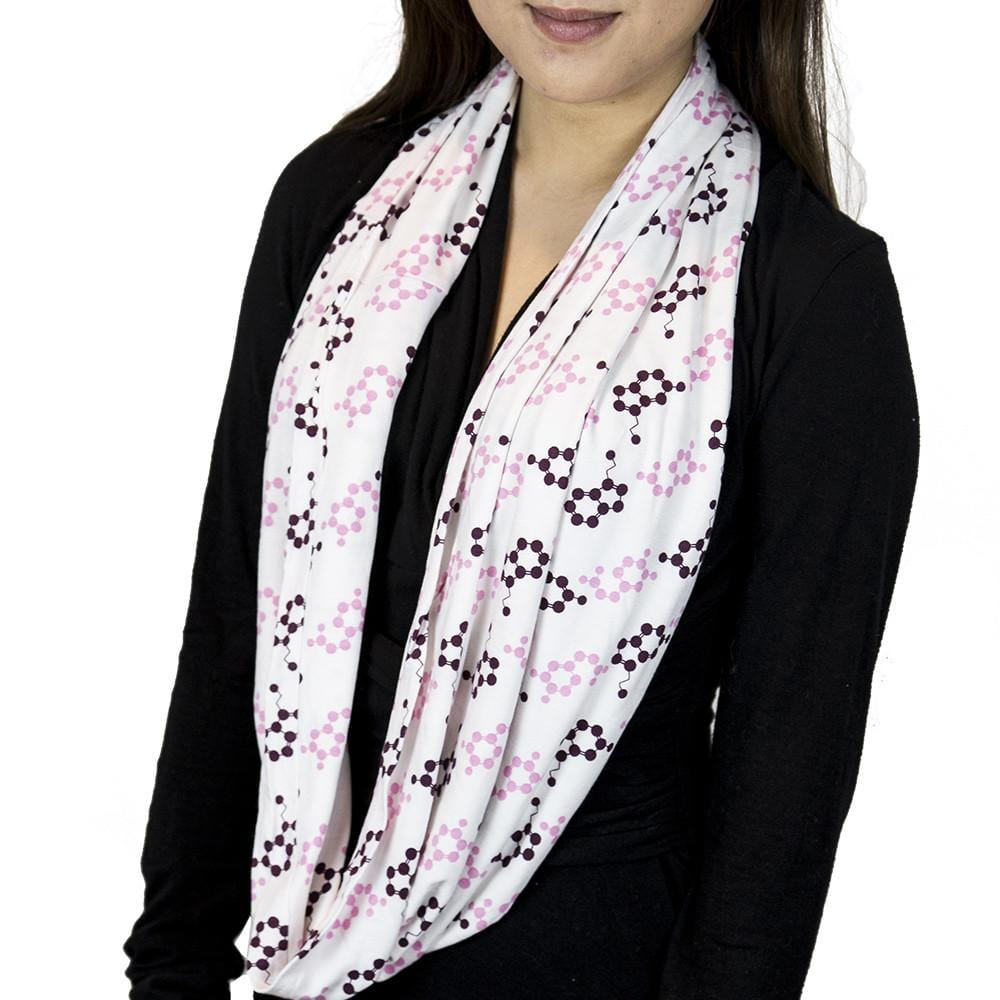 Molecularly Happy Infinity Scarf - Svaha USA STEAM-themed products for Science, Technology, Engineering, Arts & Humanities, and Math!