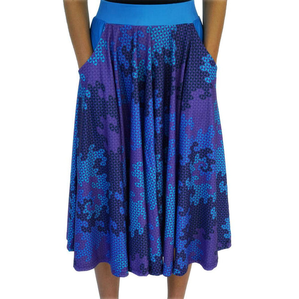 Heighway Dragon Fractal Circle Twirl Skirt