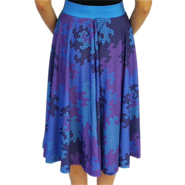 (Pre-Order) Heighway Dragon Fractal Circle Twirl Skirt