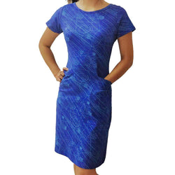 Physics Dress, High Energy Physics Dress, Matter Dress, Physics Particles Dress, Radiation Dress, Particle Physics Dress with Pockets - SVAHA USA