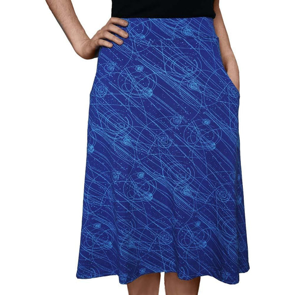 Science Skirt, Physics Skirt, STEM Skirt, Physicist Skirt, Math Skirt, High Energy Physics Skirt,  Particle Physics Skirt with Pockets - SVAHA USA