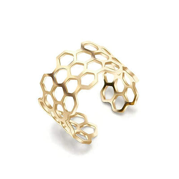 Honeycomb Stainless Steel Ring