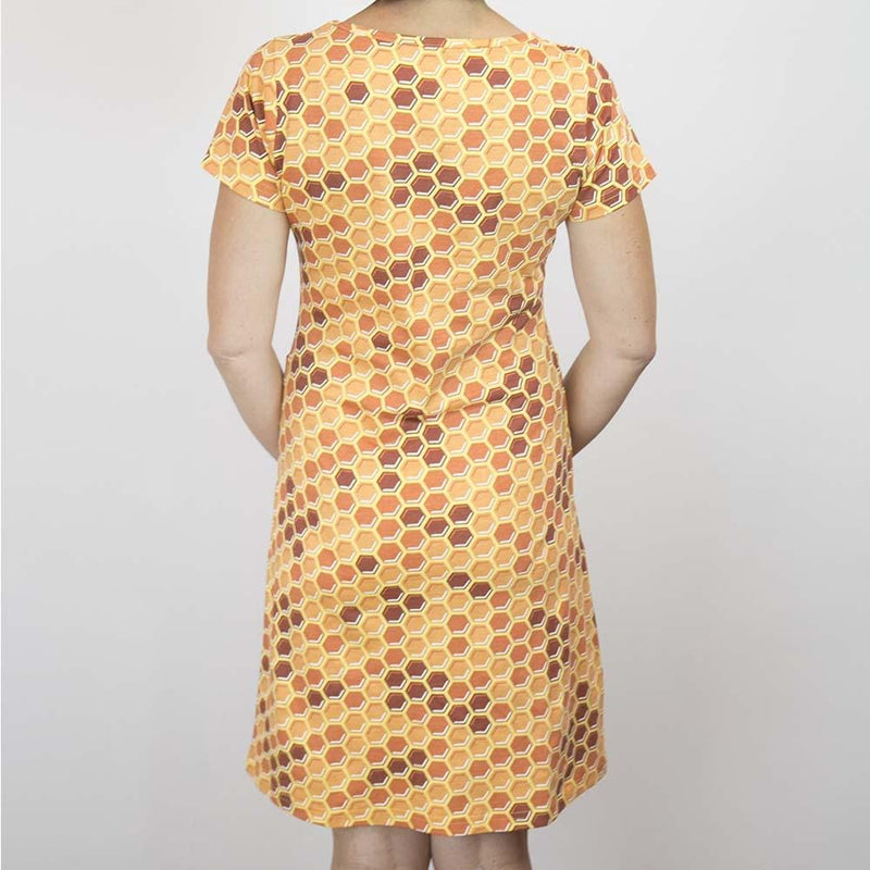 Honeycomb Print Sheath Dress - Svaha USA