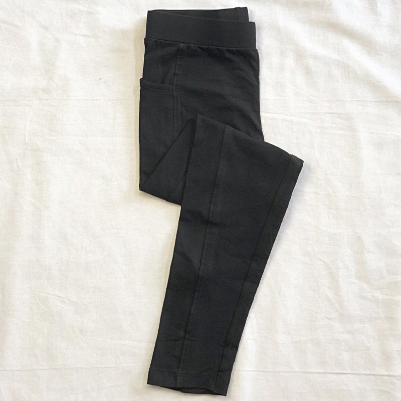 Black Cotton Kids Leggings with Pockets - Svaha USA