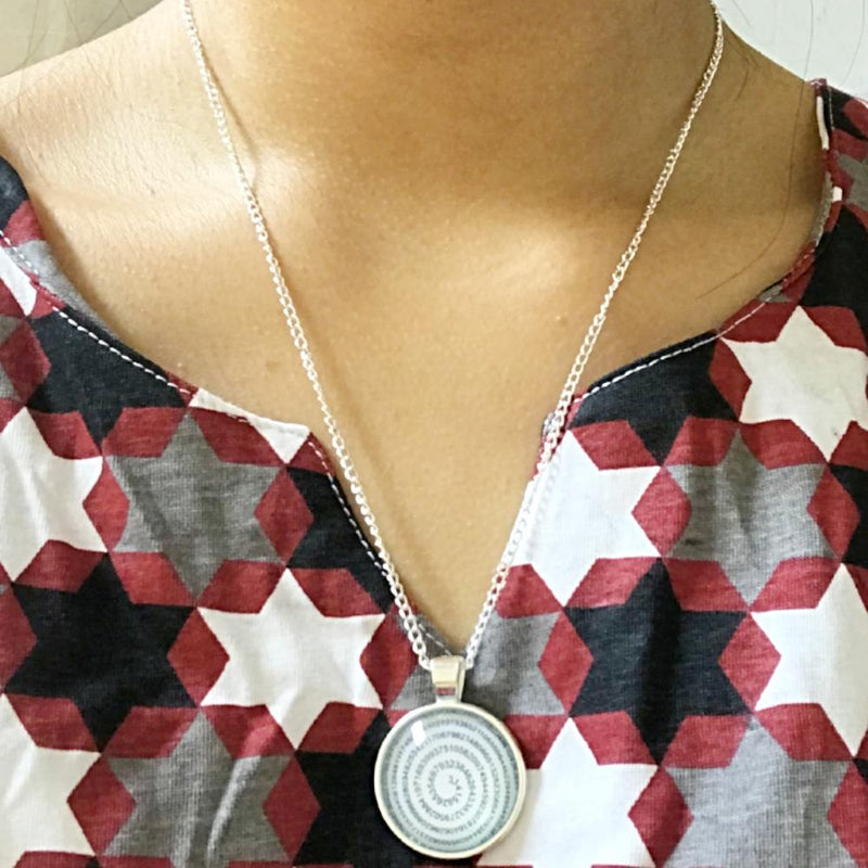 Digits of Pi Glass Necklace - Svaha USA