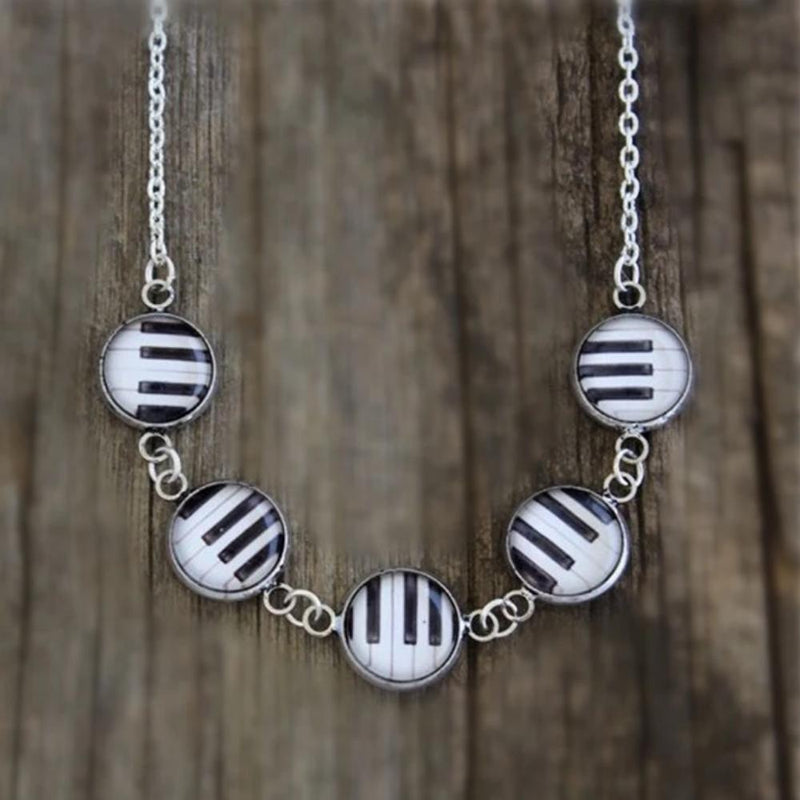 Piano Keys Statement Necklace