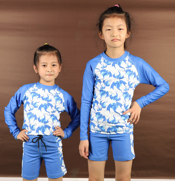 Kids Dragon Swimsuit, Kids Mythology Swimsuit, Kids Mythical Swimsuit, Kids Lizard Swimsuit, Kids Dragons Rashguard - SVAHA USA