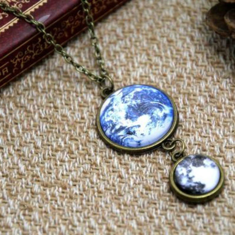 Moon & Earth Necklace - Svaha Apparel