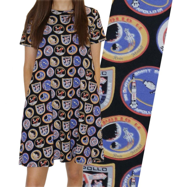 Apollo Missions Patches Jane Dress [FINAL SALE]