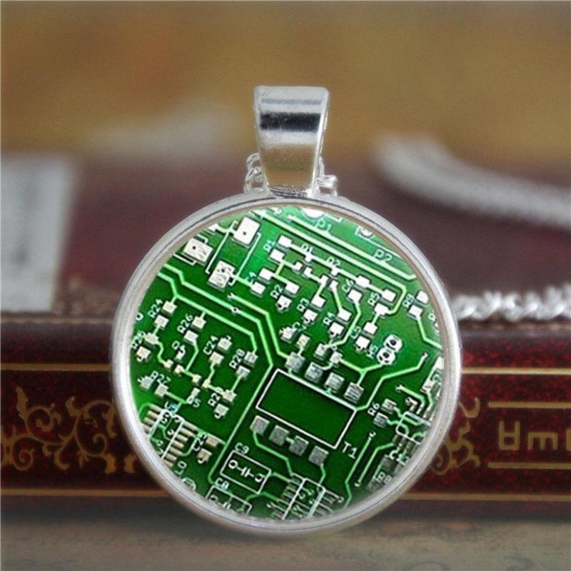Circuit Board Glass Necklace - Svaha USA