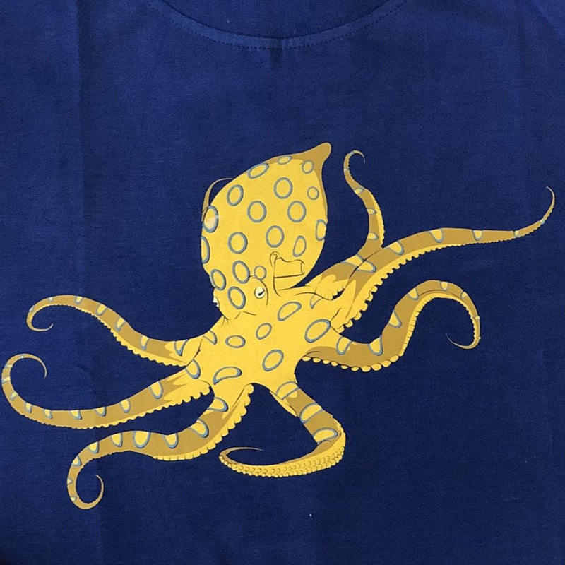 Blue-Ringed Octopus Glow-in-the-Dark Kids T-Shirt [FINAL SALE]