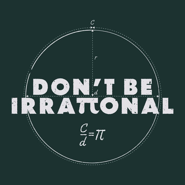 Irrational Pi Unisex Adults T-shirt