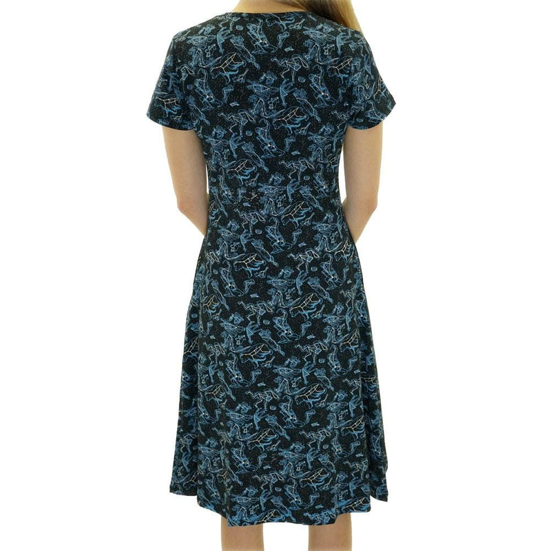 Illustrated Constellations Glow-in-the-dark Katherine Dress [FINAL SALE]