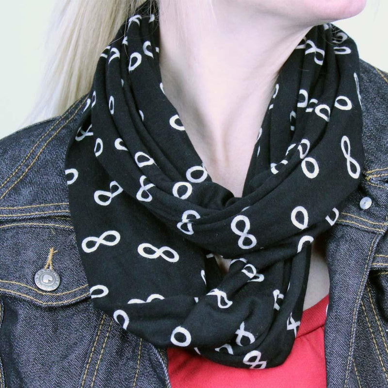 Infinity Symbol Glow-in-the-Dark Infinity Scarf - Svaha USA