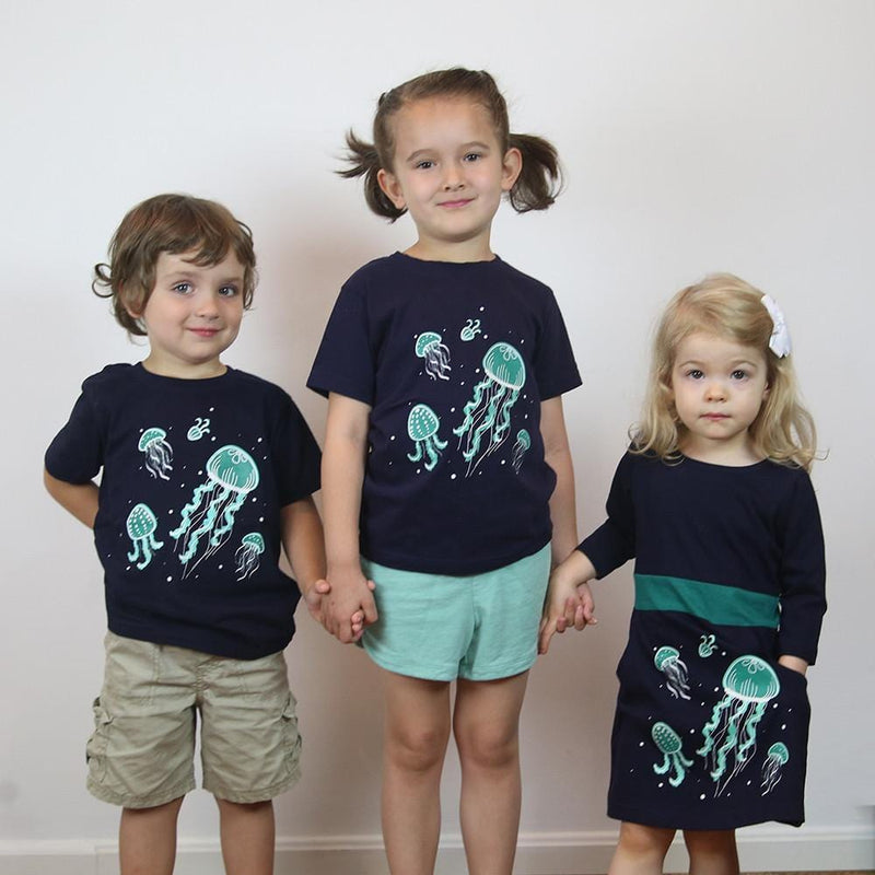 Bioluminescent Jellyfish Glow-in-the-Dark Kids T-Shirt - Svaha USA