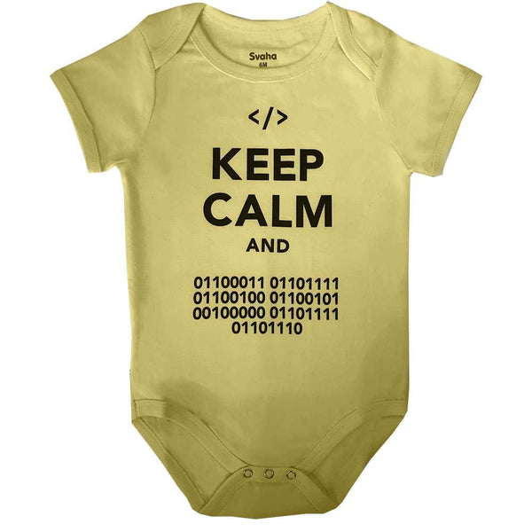Geeky Baby Clothing, STEM Baby Clothing, Geek Baby, STEM Baby, Nerdy Baby Onsie, Geeky Baby Onsie, Computer Geek Baby, STEM Baby Onsie - 'Keep Calm and Code On' Baby Bodysuit - Svaha USA