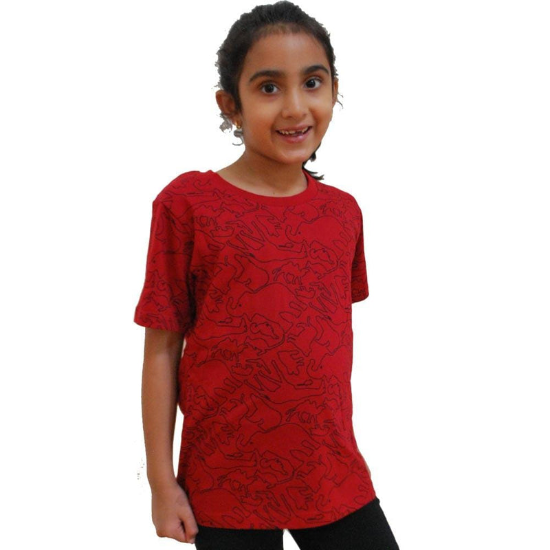 Kids Animal Shirt, Kids Red Shirt, Kids Wildlife Shirt, Kids Mammal Shirt, Kids Zoo Shirt, Kids Zoology Shirt, Kids Mammal Shirt - SVAHA USA