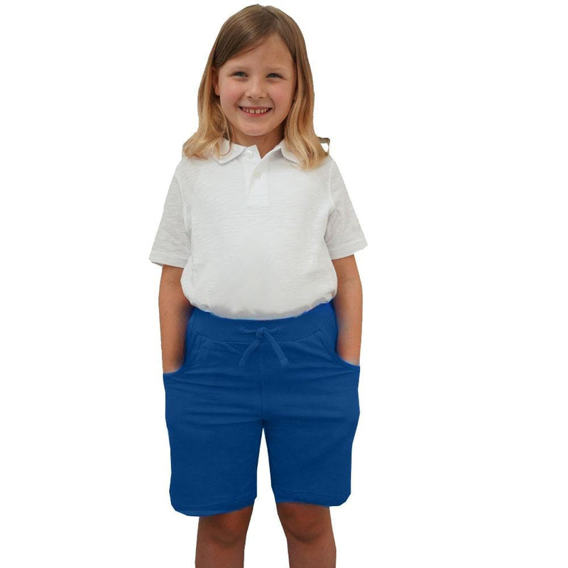 Kids Blue Back to School Shorts with Pockets - SVAHA USA