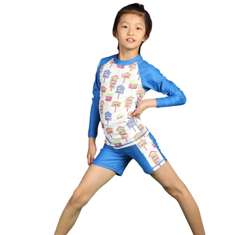 Library Swimsuit, Books Swimsuit, Book Swimsuit, Librarian Swimsuit, Literature Swimsuit, Library Houses 2 piece Kids Rashguard - SVAHA USA