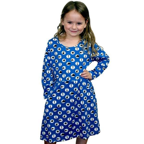 Kids Engineering Dress with Pockets, Kids STEM Dress with Pockets, Kids Physics Dress, Blue Kids Dress, Kids Mechanical Dress, Kids Mechanics Dress, Simple Machines Kids Dress with Pockets - SVAHA USA