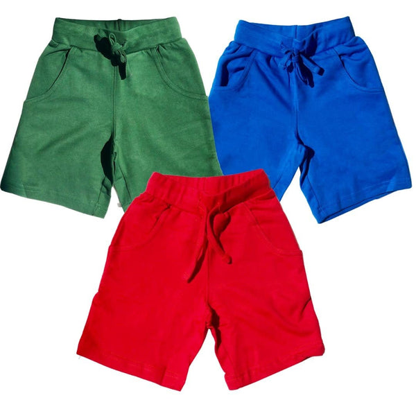 Kids Explorer Shorts with Pockets - Organic Cotton 3-Pack (RBH)