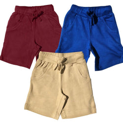 Kids Explorer Shorts with Pockets - Organic Cotton 3-Pack (MKN)