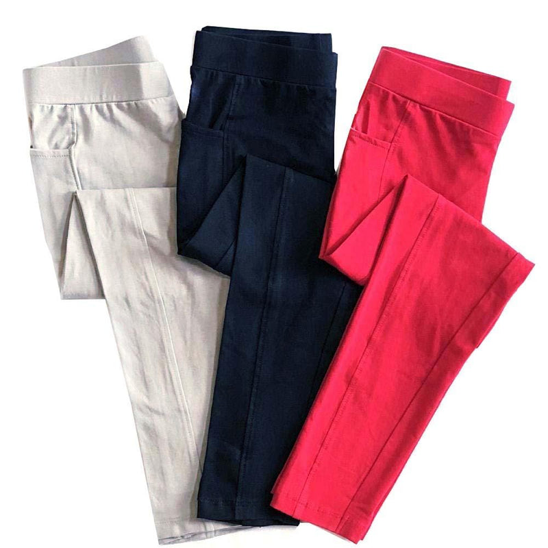 Kids Cotton Leggings with Pockets Bundle - 3-Pack - Svaha USA