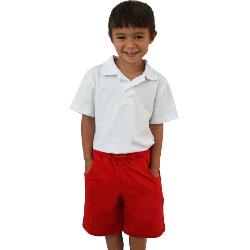 Kids Red Back to School Shorts with Pockets - SVAHA USA
