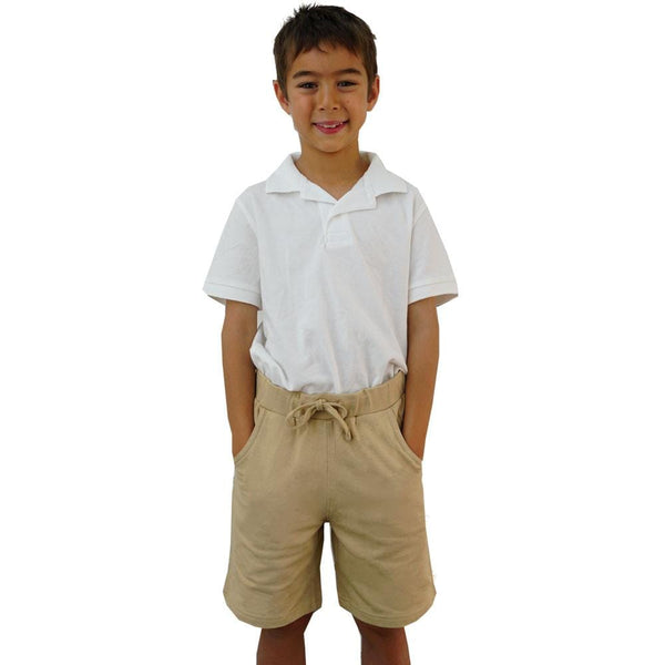 Kids Tan Khaki School Uniform Shorts with Pockets - SVAHA USA
