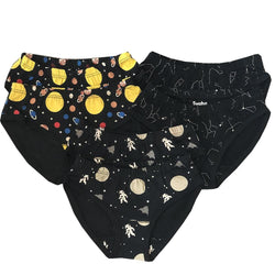 Kids Outerspace Underwear Pack, Kids Space Underwear Pack, Astronomy Kids Underwear Pack, Solar System Underwear Pack - SVAHA USA