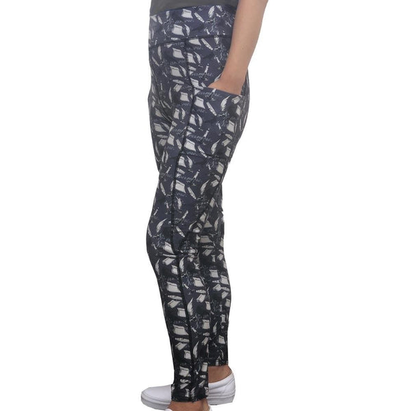 Womens Leggings with Pockets, Geek Leggings with Pockets, Literature Leggings with Pockets, Nerdy Leggings with Pockets, Printed Leggings with Pockets, Poem Leggings with Pockets, Poetry Leggings with Pockets, Poe Leggings with Pockets, Raven Leggings with Pockets, Book Leggings with Pockets, Language Arts Leggings with Pockets, Poe's The Raven Leggings with Pockets - SVAHA USA