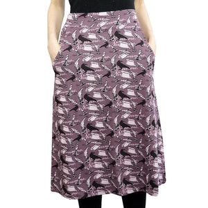 Literature Skirt, Language Arts Skirt, Poerty Skirt, Writing Skirt, Edgar Allen Poe Skirt, Humanities Skirt, Library Skirt, Librarian Skirt, English Writer Skirt with Pockets - SVAHA USA