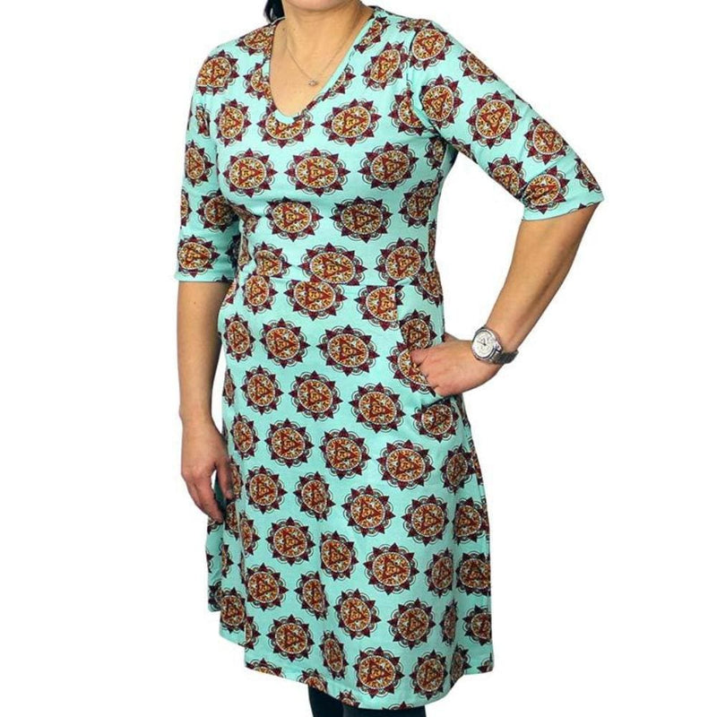 Mandala Pi Fit & Flare Dress - Svaha USA