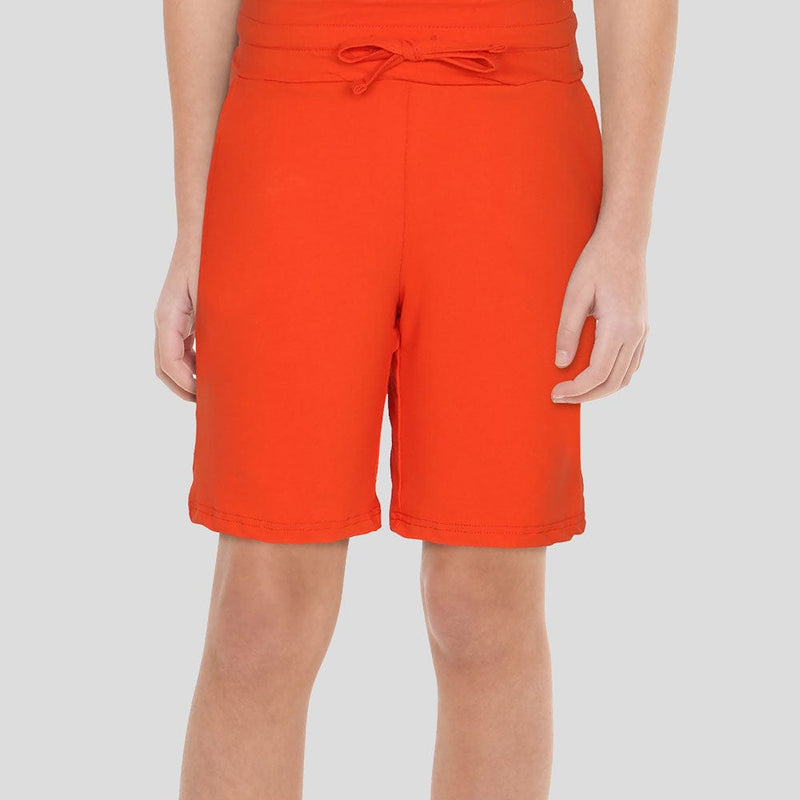 (Pre-order) Mandarin Red Kids Shorts with Pockets