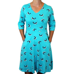 Womens Clothing, Womens Narwhals Dress with Pockets, Womens Whale Dress with Pockets, Womens Science Dress with Pockets, Womens STEM Dress with Pockets, Womens Science Dress with Pockets, Womens Marine Biology Dress with Pockets, Womens Oceanography Dress with Pockets, Womens Ocean Animals Dress with Pockets, Womens Sea Creatures Dress with Pockets, Womens Unicorn of the Sea Dress with Pockets, Womens Ocean Dress with Pockets - SVAHA USA