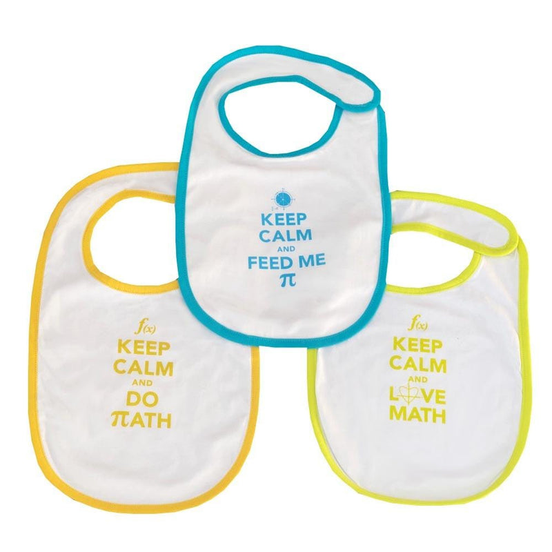 Geek Baby, Geeky Baby, STEM Baby, STEM Baby Clothes, Math Bibs, Mathematics Bibs, Keep Calm Bibs, STEM Bibs - SVAHA USA