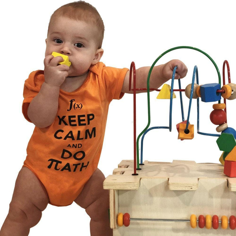 'Keep Calm and Learn' Baby Bodysuit Bundle - Organic Cotton 4-Pack