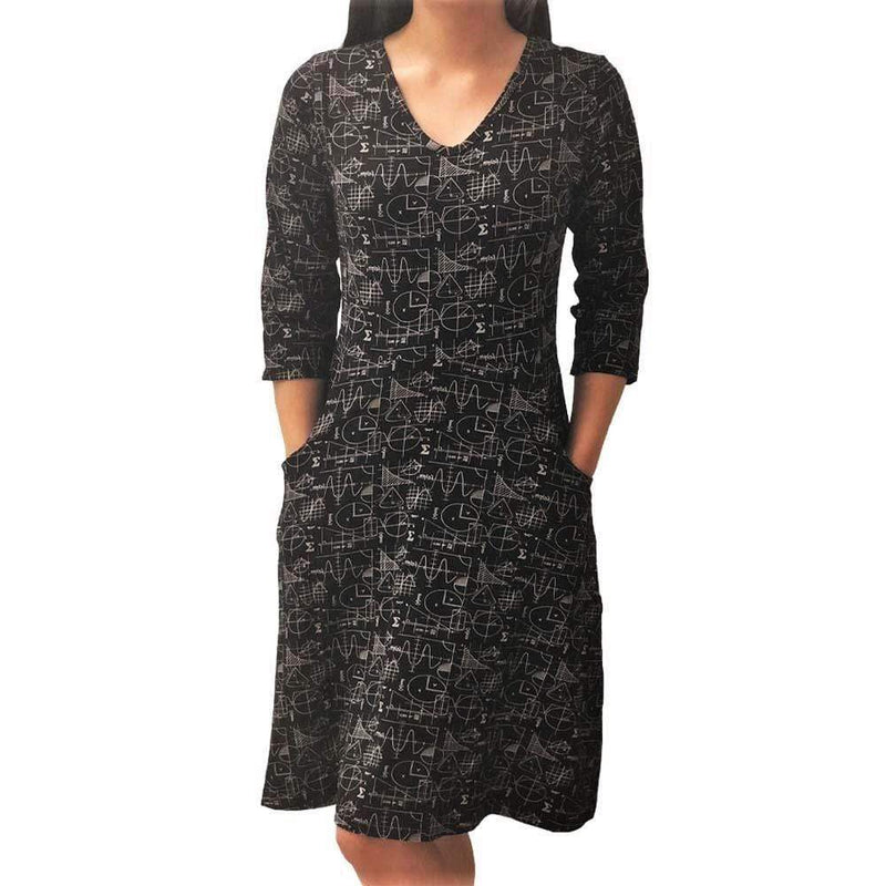 Womens Clothing, Womens Math Dress with Pockets - SVAHA USA