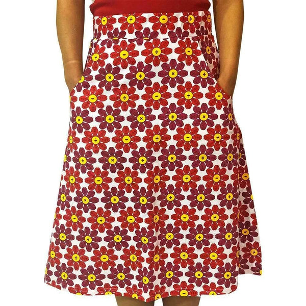 Flower Petals Skirt, Flower Skirt, Equations Skirt, Math Skirt, Mathematics Skirt, STEM Skirt, Mathematician Skirt, Arithmetic Skirt, Botany Skirt, Summer Skirt with Pockets - SVAHA USA - Svaha USA