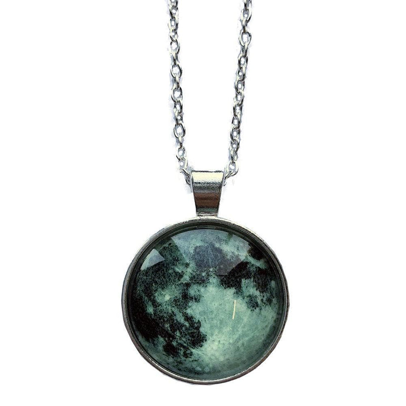 Moon Glow-in-the-Dark Glass Necklace - Svaha Apparel