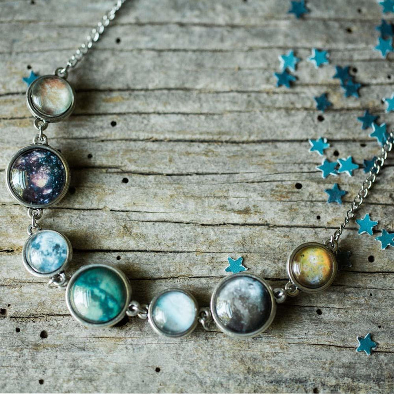 Moons of Solar System Double Sided Necklace - Svaha Apparel