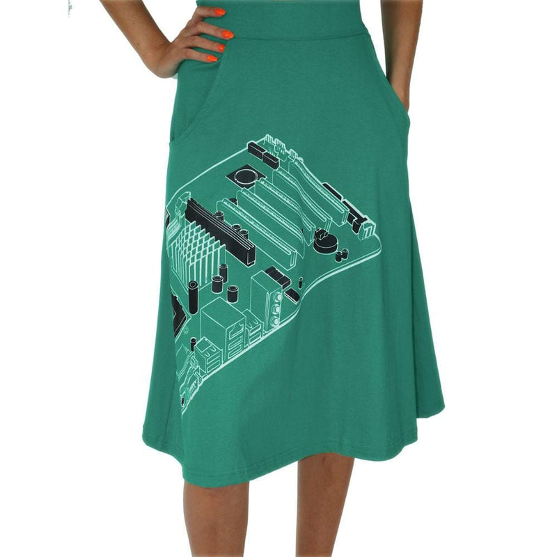 Mother Board A-Line Skirt