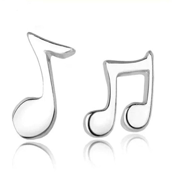 Music Earrings, Stud Earrings, Musical Stud Earrings, Sheet Music Stud Earrings, Music Notes Mismatched Stud Earrings - SVAHA USA
