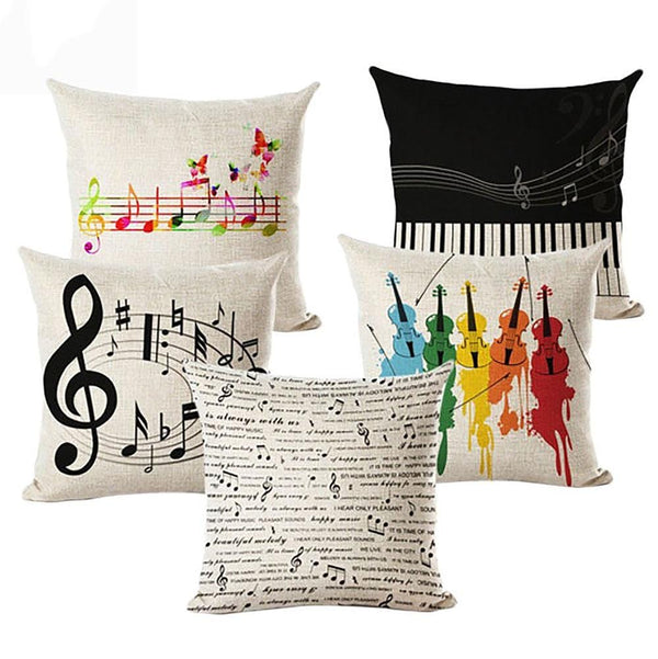 Musical Art Cushion Covers Set